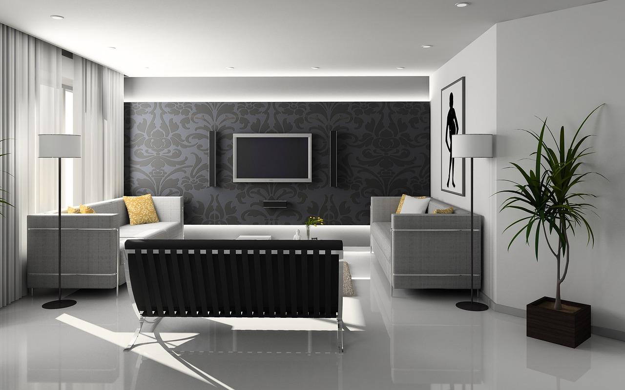 Efektowna ściana w salonie - czym ją wykończyć?
